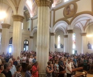 Missa 25 anos de pároco do pe. Nivaldo Piazza e de posse do pároco pe. Eleandro Teles