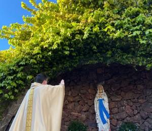 Reinauguração da gruta de Lourdes