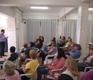 Atividades com as lideranças da Paróquia de Lourdes